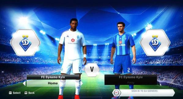 Команда — «Динамо» Киев для FIFA 15