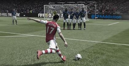 Как бить штрафные в FIFA 15