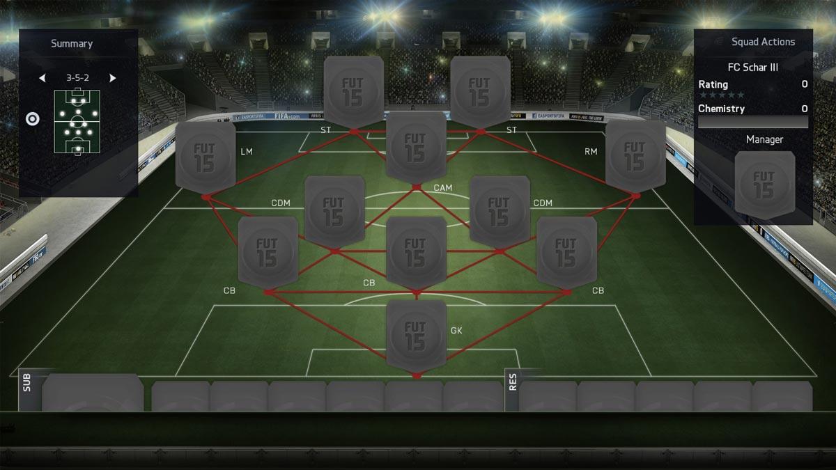 Схемы ultimate team 16