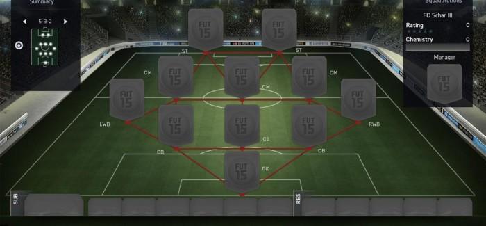 Тактическая схема FIFA 16 Ultimate Team: 5-3-2