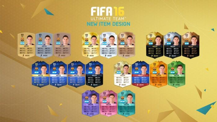 Режим FIFA Ultimate Team - карточки игроков