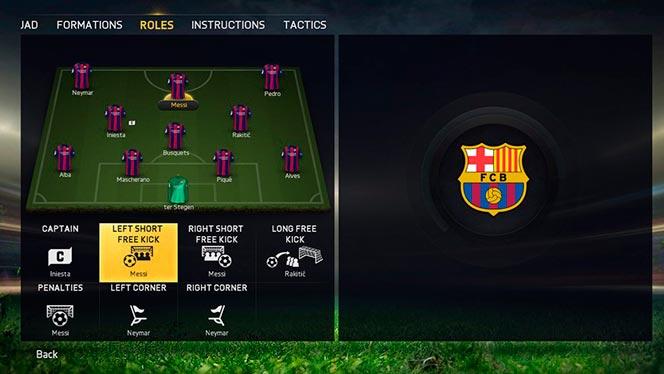 Управление командой в FIFA 15