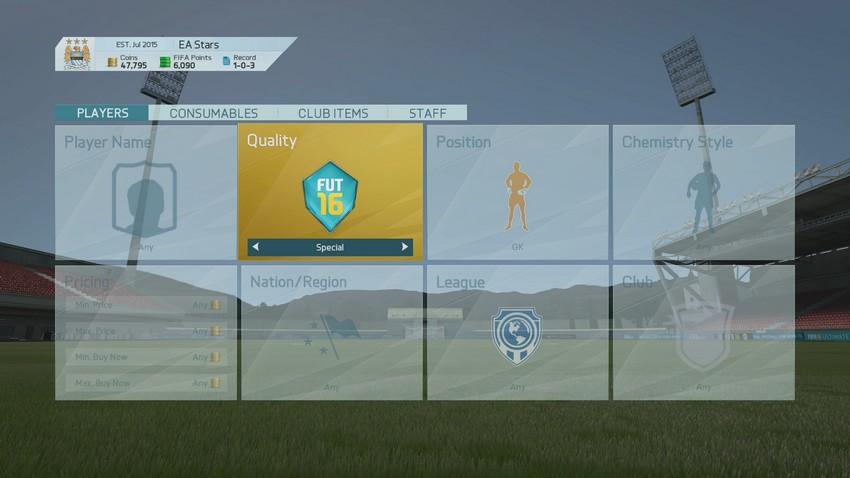 FIFA 16 Ultimate Team - Трансферный рынок