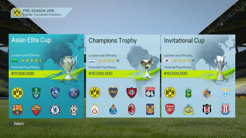 Предсезонная подготовка и турниры в FIFA 16