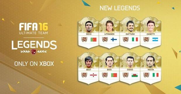 Новые легенды из США в FIFA 16 Ultimate Team