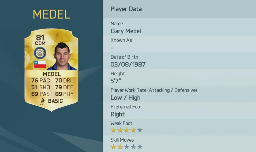 Гари Медель в FIFA 16