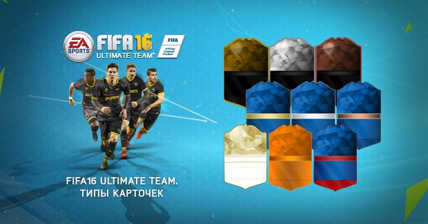 Карточки FIFA 16: виды и типы