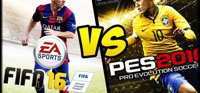 FIFA 16 или PES 16: что выбирают геймеры?