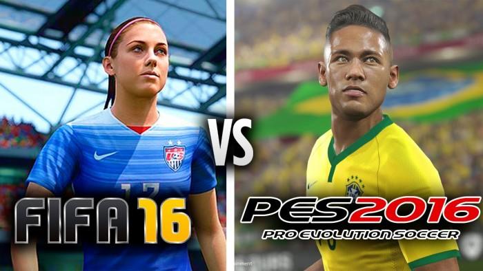 FIFA 16 или PES 16 - геймплей
