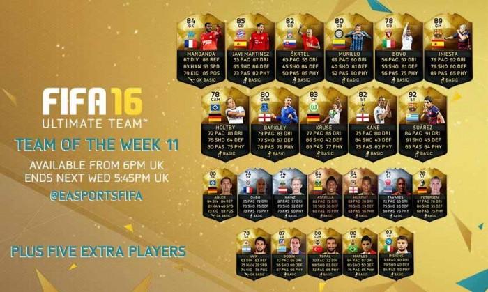 FIFA 16 UT (TOTW) - Команда недели 11