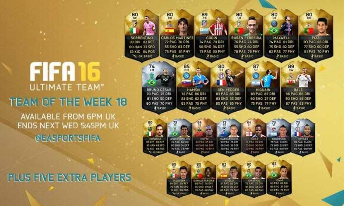FIFA 16 UT (TOTW) - Команда недели 18