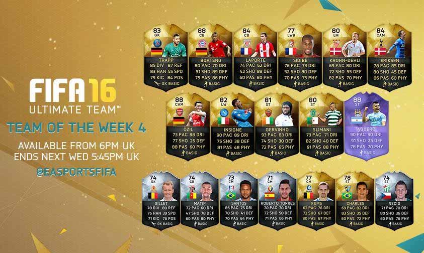 FIFA 16 UT (TOTW) - Команда недели 4
