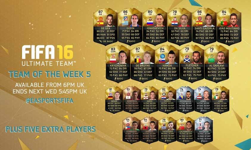 FIFA 16 UT (TOTW) - Команда недели 5