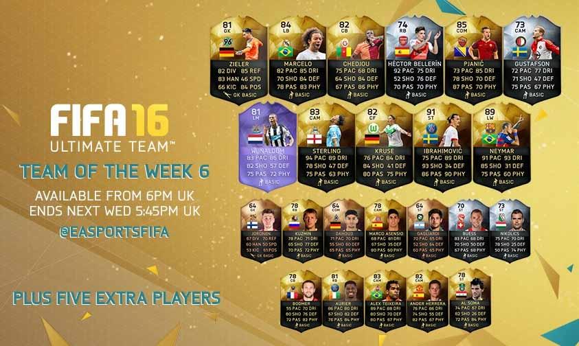 FIFA 16 UT (TOTW) - Команда недели 6