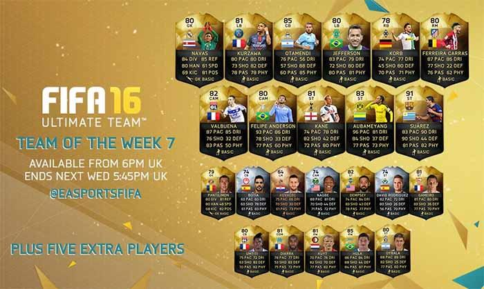FIFA 16 UT (TOTW) - Команда недели 7