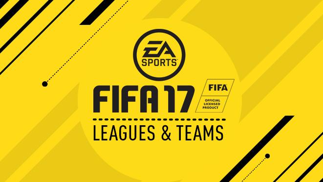 Список клубов и лиг FIFA 17